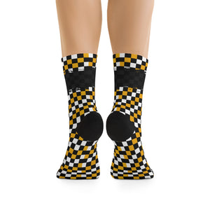 Yelo & Black 3/4 MTB Socks