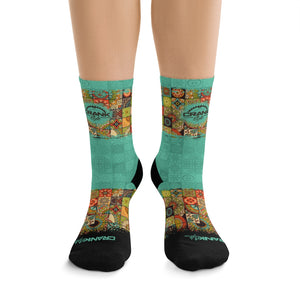 southwest Baja Pattern Mountain bike/cycling performance socks. These are super lightweight and breathable socks. Now with matching MTB jersey and face mask! Be sure to check out the bundle and save.