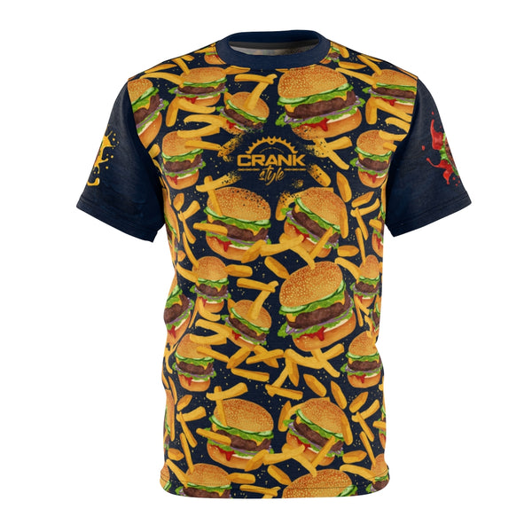 Cheesy Blue Burger & Fires MTB Jersey