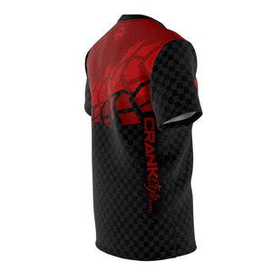 Black & Red Tire Check MTB JERSEY