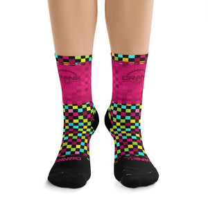 Multi Pink Checker 3/4 MTB Socks