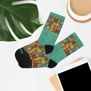 Southwest Baja Pattern 3/4 MTB Socks