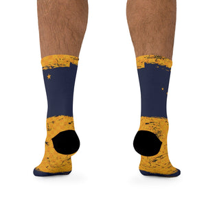 Alaska Flag Check Flag 3/4 MTB Socks