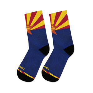Arizona Flag & Topo Pattern 3/4 MTB Socks