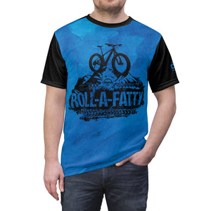 """Original"" RollAFatty Blue MTB JERSEY"