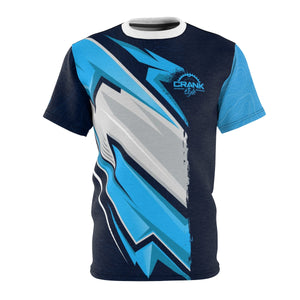 Blue Topo Racing Stripes MTB Jersey