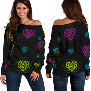 Chain Heart BLK Off Shoulder