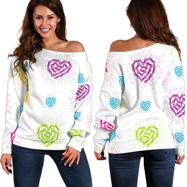 Chain Heart Off Shoulder