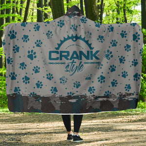 Doggie Paw Print and Camo Hooded Blanket