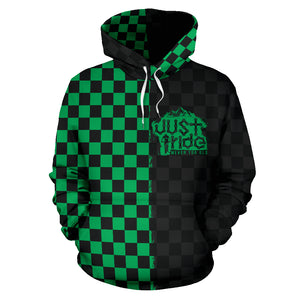 JUST RIDE Checker Hoodie