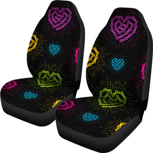 Blk Chain Heart Seat Covers