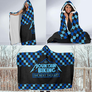 MTBing Therapy Hooded Fleece Blanket
