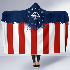 USA Topo Flag Hooded Blanket