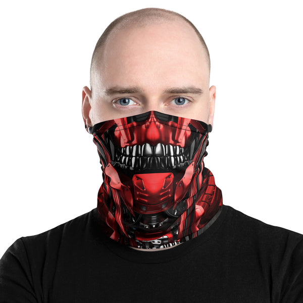 Cyber skull face mask with tenicals coming out of the head. this face mask can be worn for cycling, mountain biking, snowboarding and hiking. Protecting you from the elements in style, crank style. Covid19