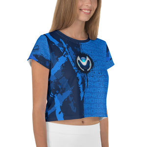 Morpheus Wraps Blue Paint Crop Tee