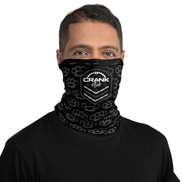 crank stle's Brass Knuckle Neck Gaiter, face mask! this is great for colder weather rides as well as protecting yourself from the elements. Not intended for medical use but can help protect. Great for Mountain biking, hiking, hunting, snowboarding or just hanging out social distancing. Very eary to breathe.