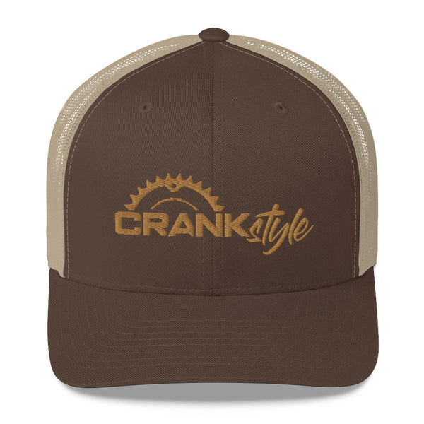 Crank Style Brown & Tan Trucker Cap