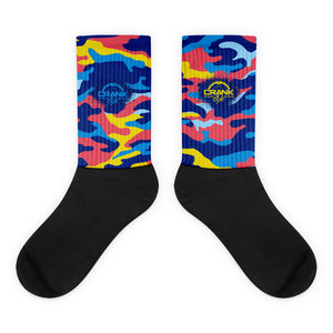 Multi Color Camouflage Carbon Fiber MTB Socks