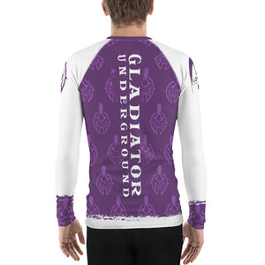Gladiator Underground Men's Rash Guard - Purple Belt