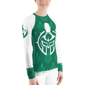 Women's Gladiator Underground Green Belt MMA/BJJ Rash Guard