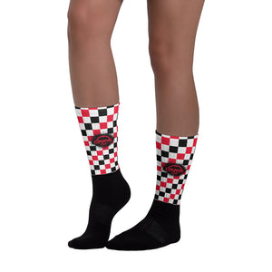 Red & Black Checkered MTB Socks
