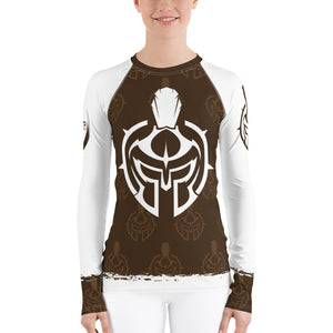 Women's Gladiator Underground Brown Belt MMA/BJJ Rash Guard