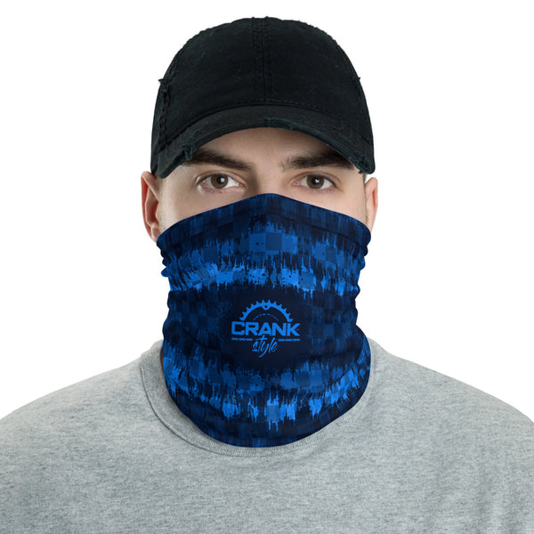 Blue Checker Wave Face Mask / Neck Gaiter