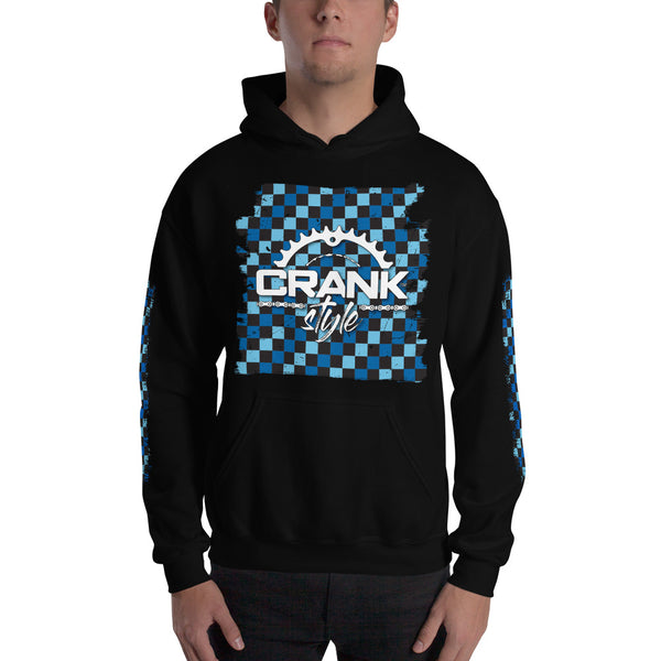 Blue CHeckered Hoodie