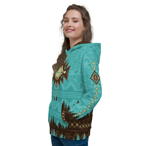 Crank Style's Southwest Aztec style Hoodie. This hoddie is unisex and super comfy inside and out. You will love to hike, mtb or camp in this fleece hoodie. Crank Style gives you the confidence to crank in style. Arizona, Utah, California, New Mexico, Colorado and Nevada will love this style.