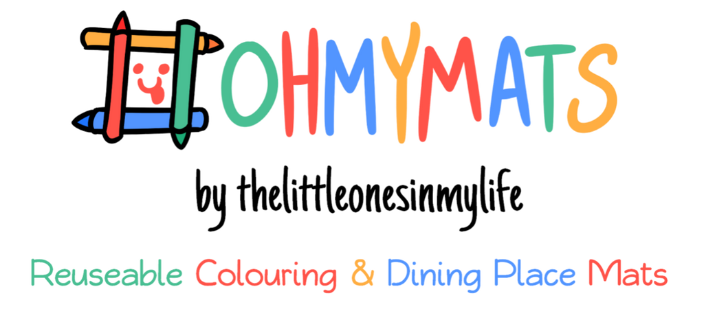 #ohmymats Reuseable Colouring & Dining Place Mats