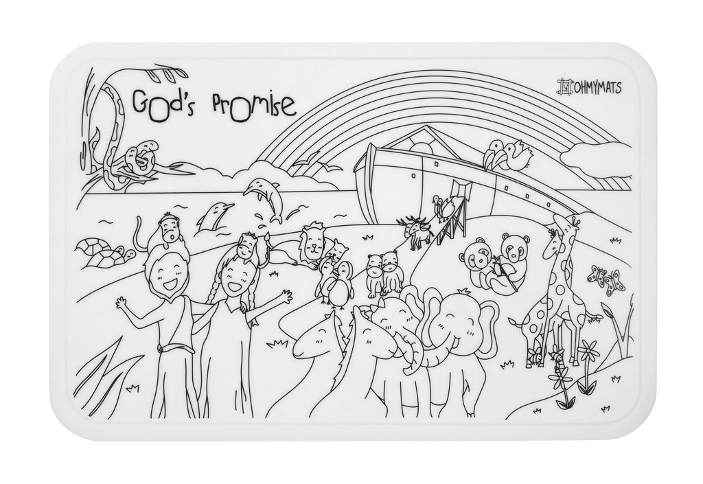 #ohmymats God's Promise - Large Reuseable Colouring & Dining Place Mat (KOREA)