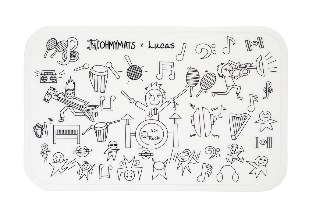 #ohmymats Rock Star - Small Reuseable Colouring & Dining Place Mat (KOREA)