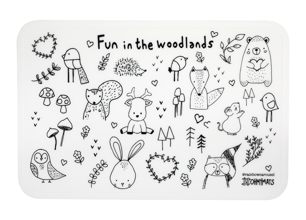 #ohmymats Fun in the Woodlands - Large Reuseable Colouring & Dining Place Mat (KOREA)