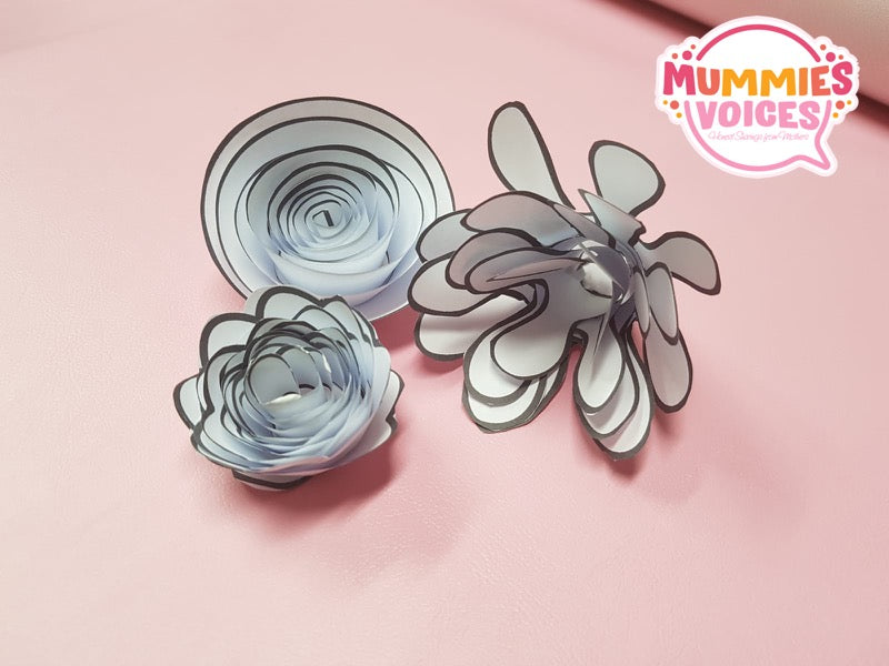 Template: Paper Flowers