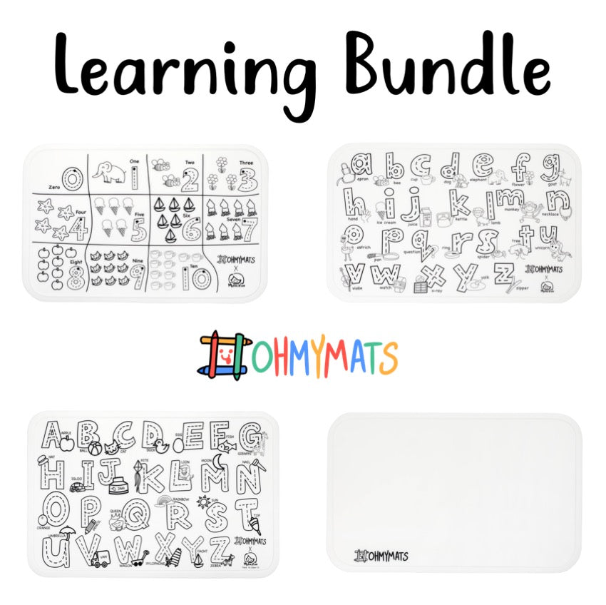 Learning Bundle #ohmymats Reuseable Colouring & Dining Place Mat (KOREA)
