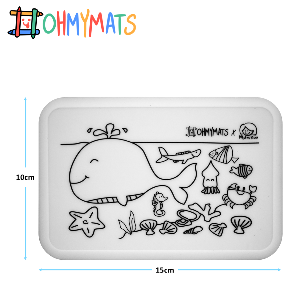 #ohmyminimats - Under The Sea Fun - Reusable Mini Colouring Mats