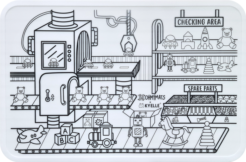 #ohmymats Toy Factory - Large Reuseable Colouring & Dining Place Mat (KOREA)