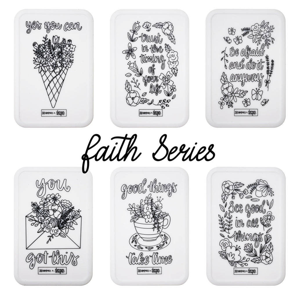 #ohmyminimats - Faith Party Packs for Mini Reuseable Colouring & Dining Place Mat (KOREA)
