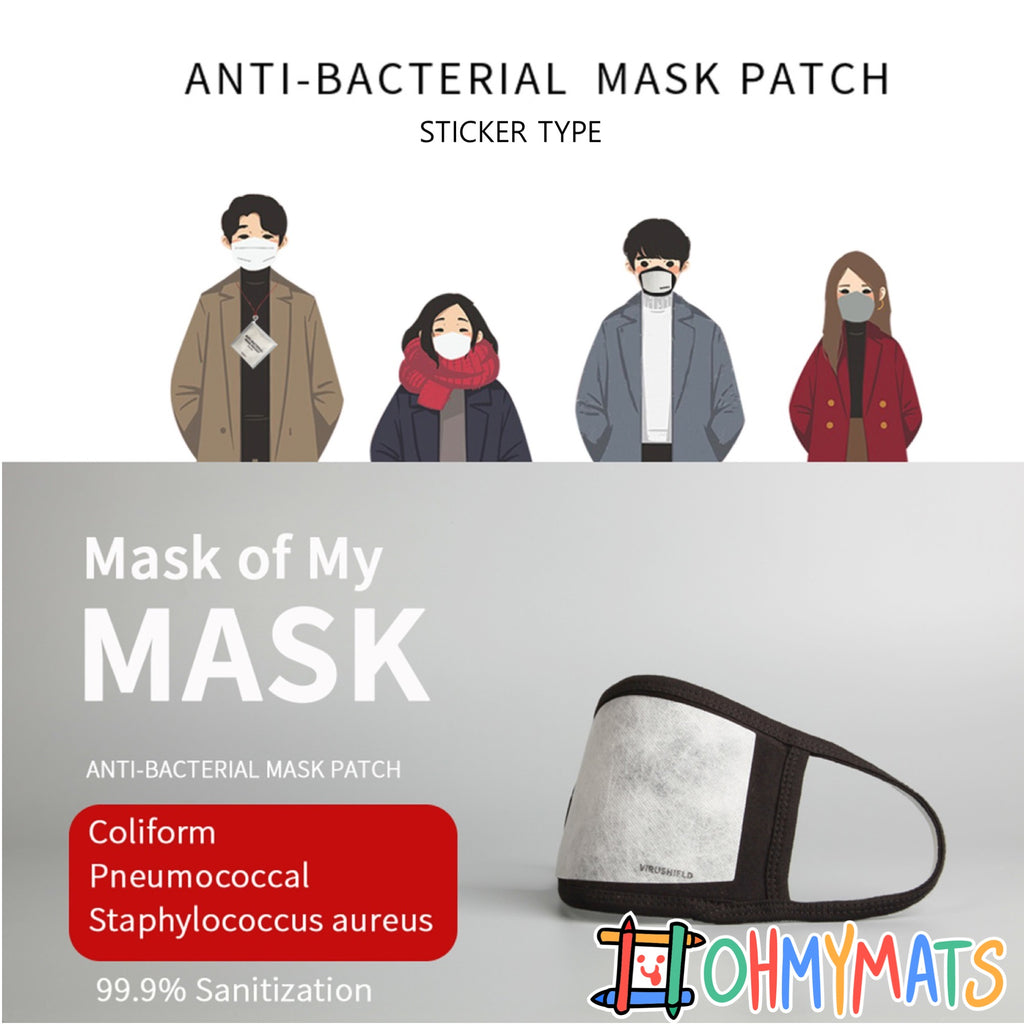 Anti-Bacterial Mask Filter Patch (STICKER TYPE - 10pc) Made in Korea