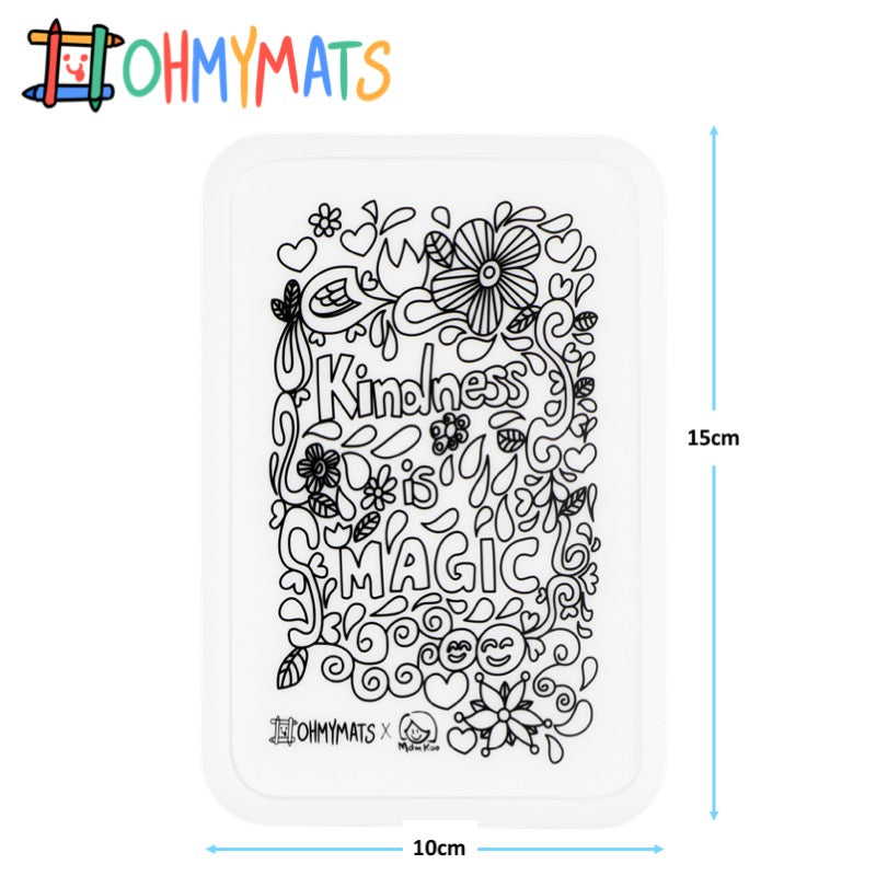 #ohmyminimats - Inspirational: Kindness is Magic - Reusable Mini Colouring Mats
