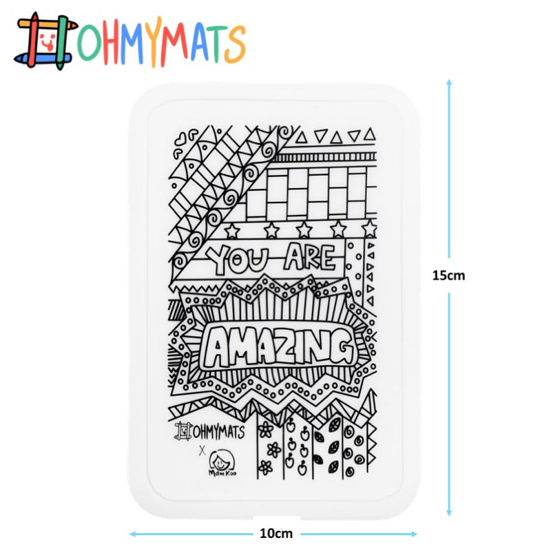 #ohmyminimats - Inspirational: You are Amazing - Reusable Mini Colouring Mats