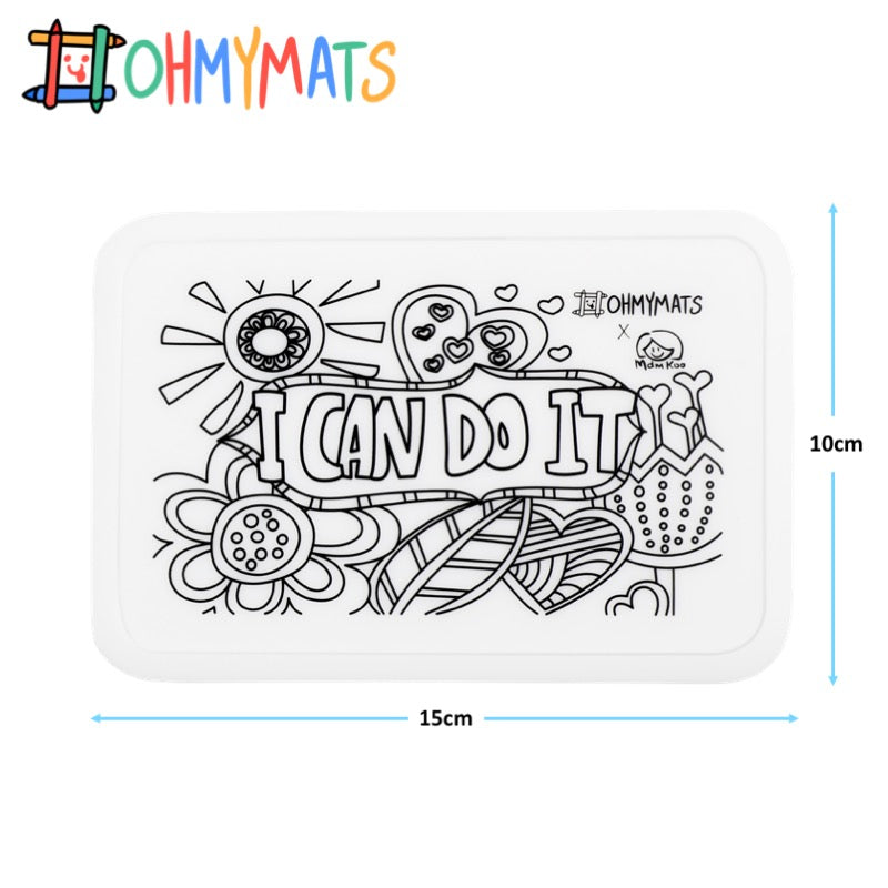 #ohmyminimats - Inspirational: I Can Do It - Reusable Mini Colouring Mats