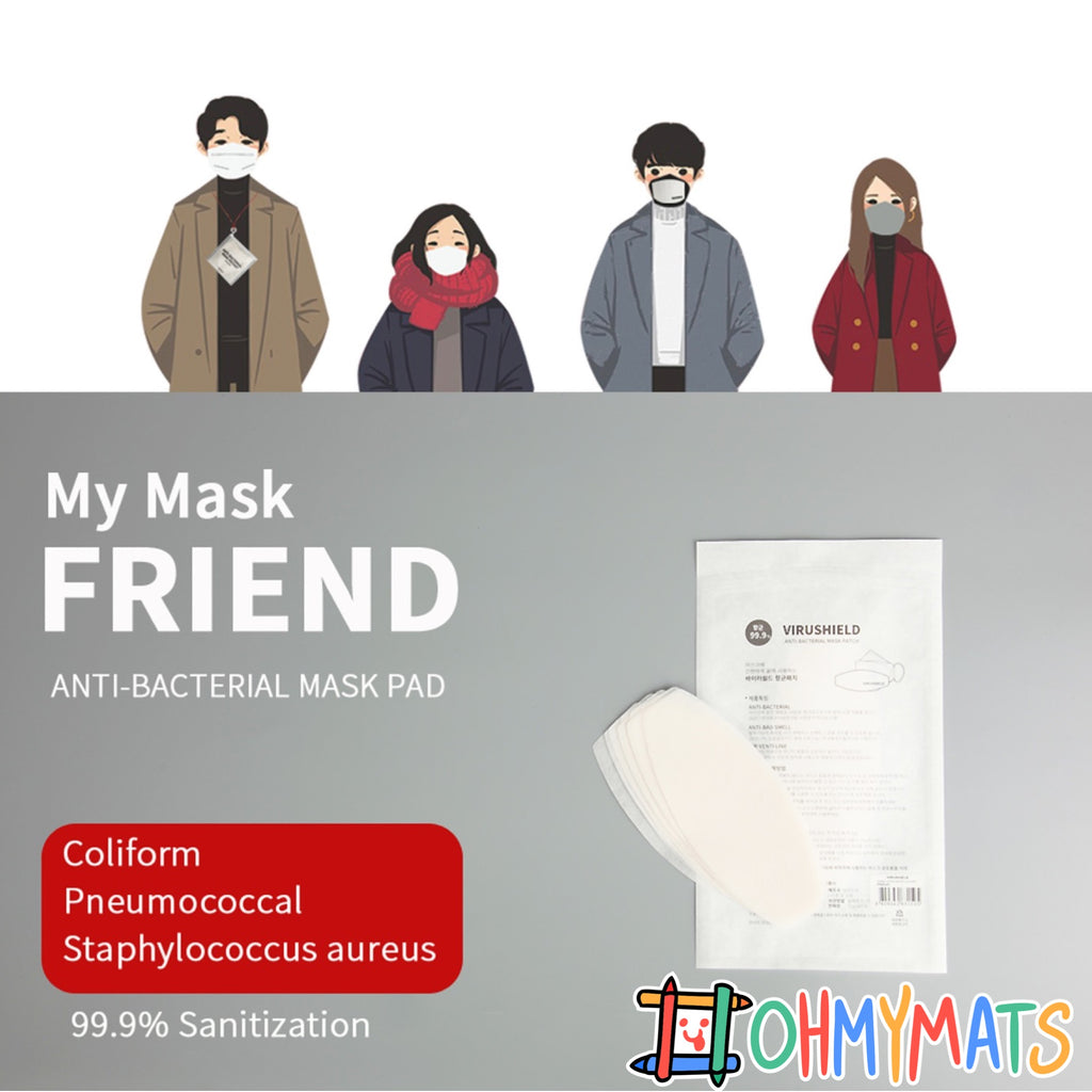 Anti-Bacterial Mask Filter Pad (12pc) Made in Korea