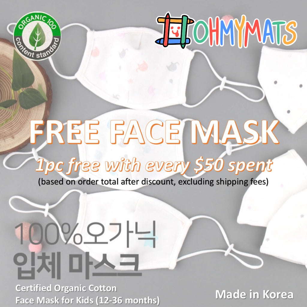 FREE: 100% Organic Cotton Mask for Kids (12-36 months)