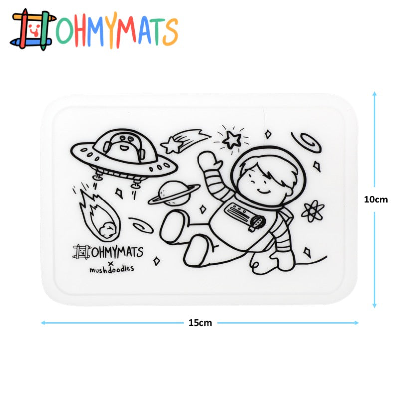 #ohmyminimats - Outer Space Fun - Reusable Mini Colouring Mats