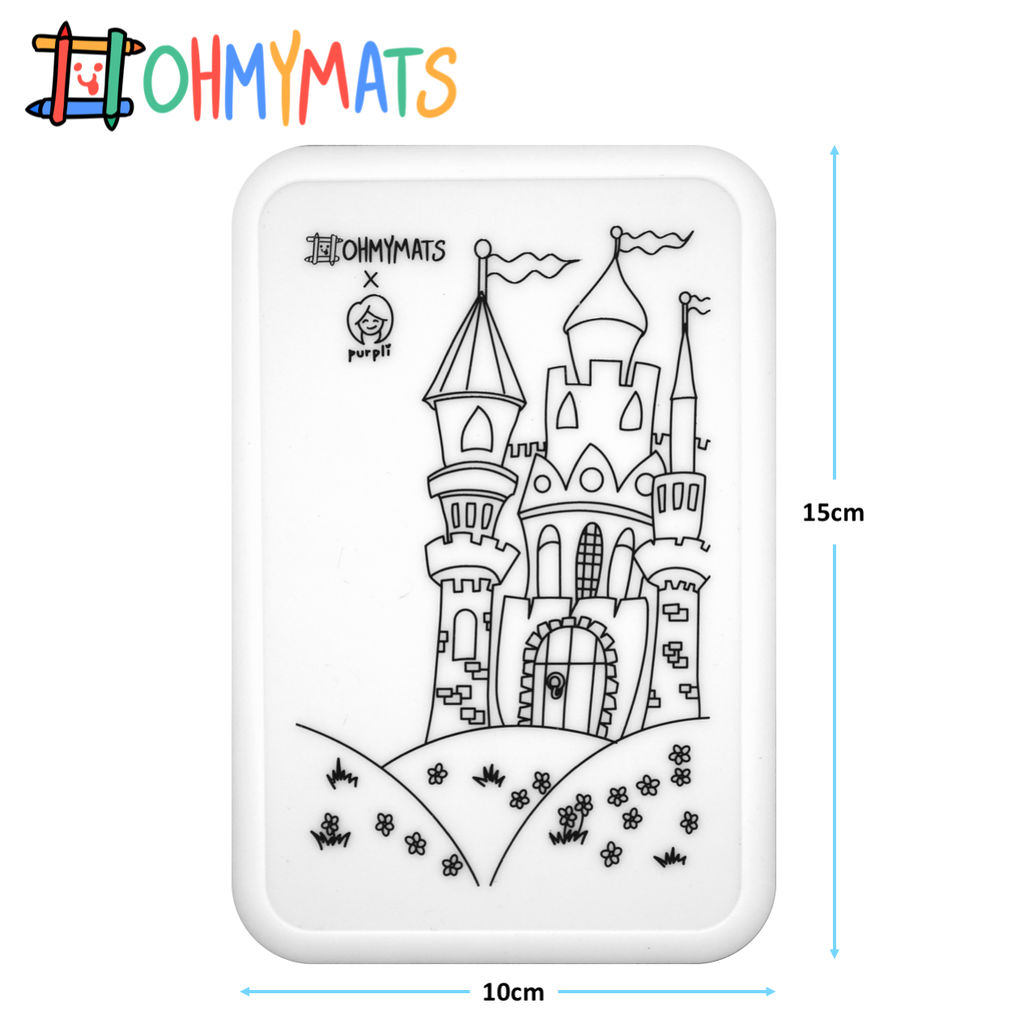 #ohmyminimats - Fairy Tale Fun - Reusable Mini Colouring Mats