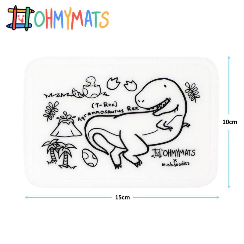 #ohmyminimats - Dinosaur Fun - Reusable Mini Colouring Mats