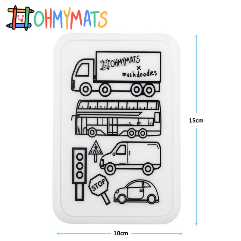 #ohmyminimats - Vroom Fun - Reusable Mini Colouring Mats