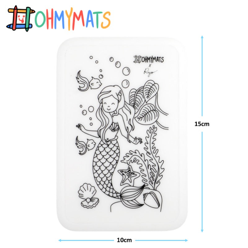 #ohmyminimats - Mermaid Fun - Reusable Mini Colouring Mats