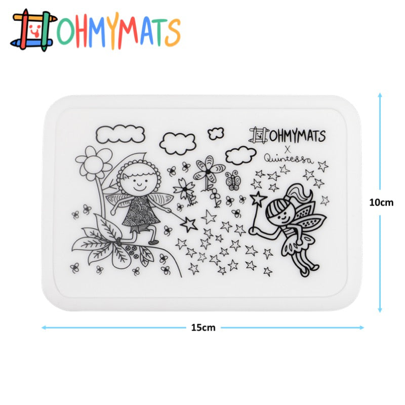 #ohmyminimats - Fairies Fun - Reusable Mini Colouring Mats
